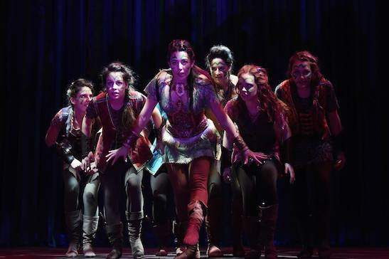 Ana Marcu (Tiger Lily), and her troupe in the Syracuse Stage production PETER PAN. Photo by Brenna Merritt.