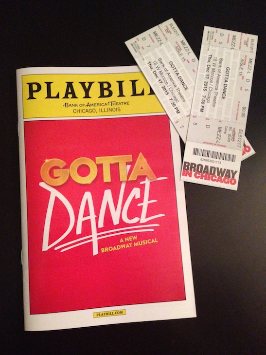 Tickets and playbill from the opening night performance of 'Gotta Dance'. Photo by Merle Frimark