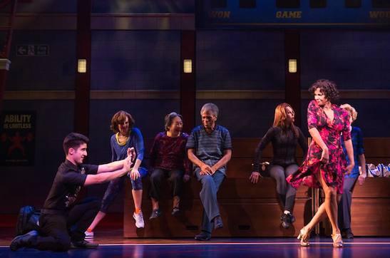 Alexander Aguilar, Lori Tan Chinn, André De Shields Stefanie Powers, Nancy Ticotin and Georgia Engel in GOTTA DANCE. Photo by Matthew Murphy
