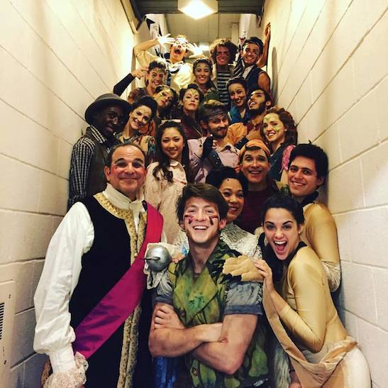 Backstage with the cast of 'Peter Pan'. Photo courtesy of Troy Hussmann