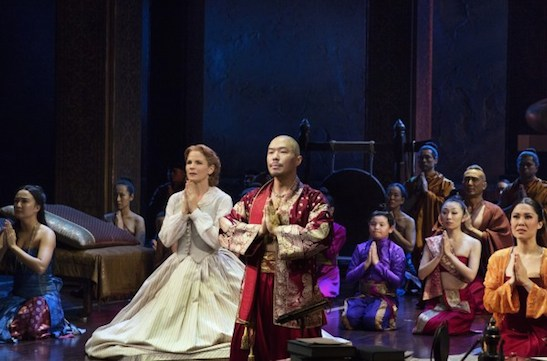 Ashley Park, Kelli O'Hara, Hoon Lee, Ruthie Ann Miles and the cast of The King and I. Photo by Paul Kolnick
