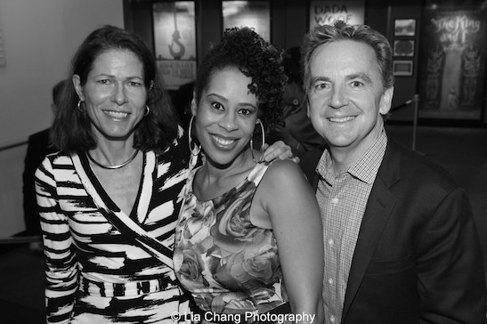 LTC3's Artistic Director Paige Evans, 2015 Steinberg Award winner Dominique Morisseau and Signature Theatre's Founding Artistic Director James Houghton attend the 2015 Steinberg Playwright Awards on November 16, 2015 in New York City. Photo by Lia Chang