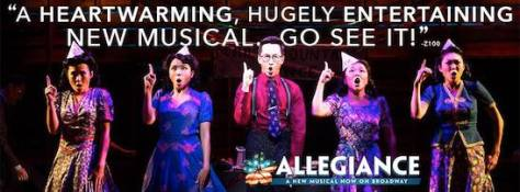 The cast of ALLEGIANCE. Photo by Matthew Murphy