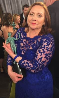 Dale Soules with her SAG Award on January 25, 2015.