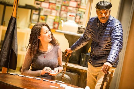 Director Jade King Carroll with John Earl Jelks in rehearsal in 'The Piano Lesson'. Photo by Matt Pilsner