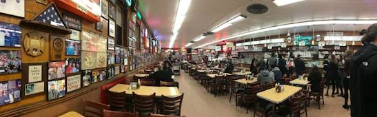 Katz's Deli in New York.