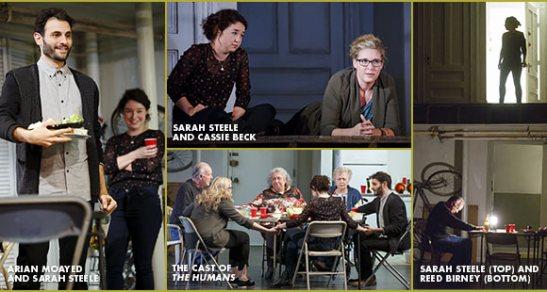 The cast of Stephen Karam's 'The Humans. Photos by Joan Marcus