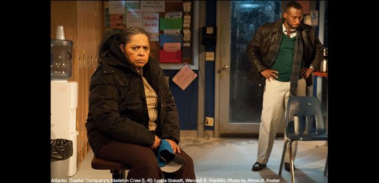 Lynda Gravatt and Wendell B. Franklin in Atlantic Theater Company's Skeleton Crew. Photo by