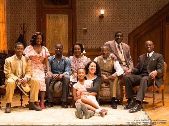 The cast of 'The Piano Lesson' with director Jade King Carroll. Photo by T. Charles Erickson