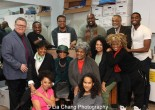 The Company with (back row) James Morgan (York Producing Artistic director), Devin L. Roberts, Raun Ruffin, Doug Eskew, William Foster McDaniel (music director) and Jelani Alladin; (seated center) Marva Hicks, Micki Grant, Tina Fabrique, Julia Lema (director's assistant), Leslie Dockery (director); (front row) Debra Walton and Darilyn Castillo. Photo by Lia Chang