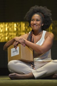 Safiya Fredericks (Diane) in Julia Cho's Aubergine at Berkeley Rep. Photo courtesy of kevinberne.com