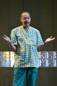 Tyrone Mitchell Henderson (Lucien) in Julia Cho's Aubergine at Berkeley Rep. Photo courtesy of kevinberne.com