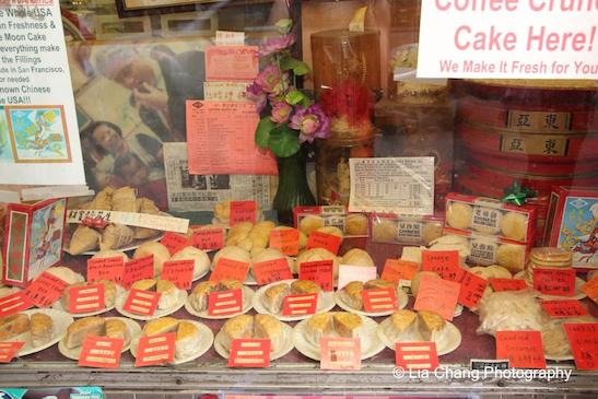Sweet treats at Eastern Bakery in San Francisco Chinatown. Photo by Lia Chang
