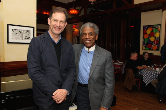 Henry Rinehart and André De Shields at Henry's. Photo by Lia Chang