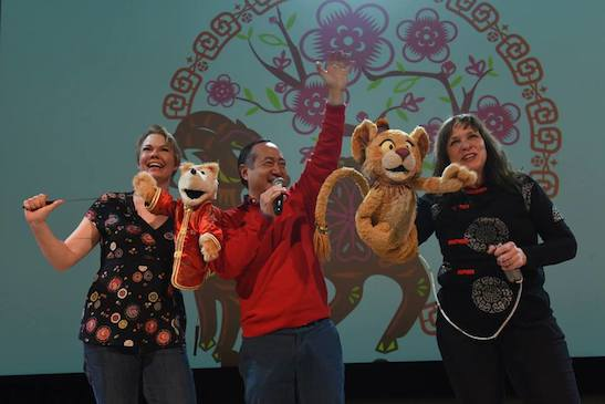 SESAME STREET's Jennifer Barnhart, Alan Muraoka and Pam Arciero. Photo courtesy of Alan Muraoka/Facebook