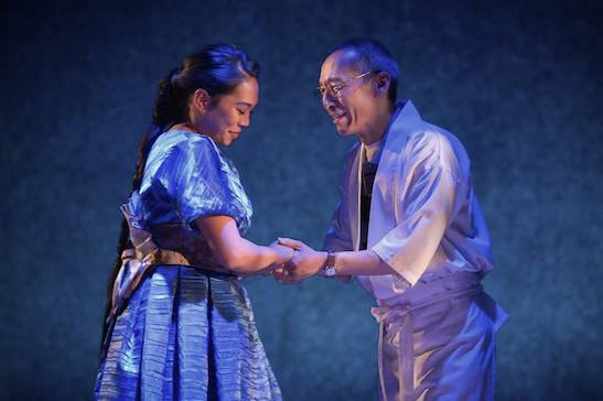 Nicole Javier and Francis Jue in tokyo fish story. Photo by Kevin Berne