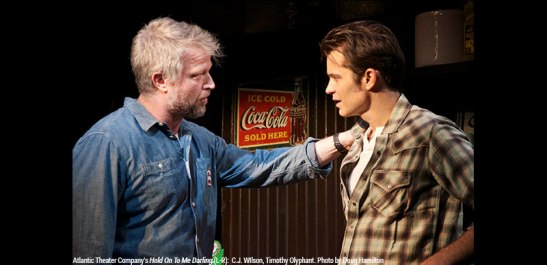 C.J. Wilson and Timothy Olyphant . Photo by Doug Hamilton