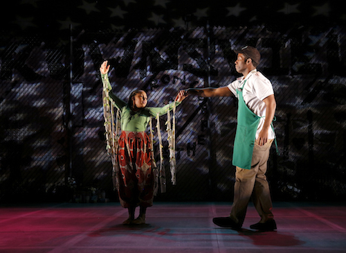 "Leah Dual and Chinaza Uche in ""brownsville song (b-side for tray)"" at Seattle Repertory Theatre. Photo by Chris Bennion."