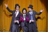 Bill Irwin, Shaina Taub and David Shiner. Photo by Kevin Berne