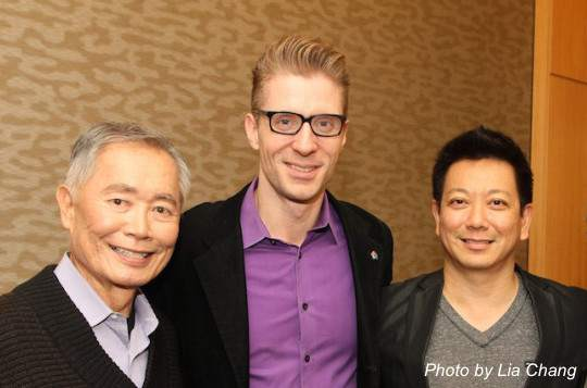 George Takei, Lorenzo Thione and Jay Kuo. Photo by Lia Chang