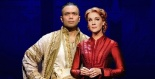 Jose Llana as The King and Analisa Leaming as Anna in LCT's THE KING AND I. Photo by Paul Kolnick