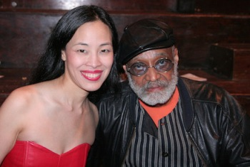 Lia Chang with her IDENTITY CRISIS director, Melvin Van Peebles at LaMaMa in New York in 2010.