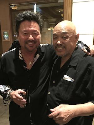 Dan Kuramoto and my dad, Russ Chang in the Chrome Room at Santa Fe Casino in Las Vegas on May 7, 2016.