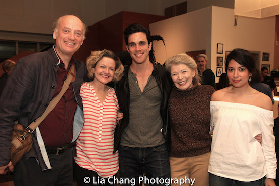 The cast of Edward Albee's THE SANDBOX- Frank Wood, Alison Fraser, Ryan James Hatanaka, Phyllis Somerville and Melody Giron. Photo by Lia Chang