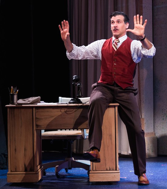 Joey Sorge as Walt Disney. Photo: Phoenix Theatre/Matt Chesin