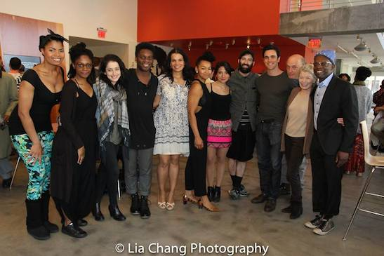 Pia Glenn, April Matthis, director Lila Neugebauer, Mikeah Ernest Jennings, January LaVoy, Crystal Dickinson, Melody Giron, Nick Bruder, Ryan-James Hatanaka, Frank Wood, Phyllis Somerville and Sahr Ngaujah. Photo by Lia Chang