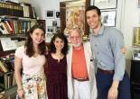 Rachel Eskenazi-Gold (Christine Alt), Ali Ewoldt (Christine Daaé) and Jordan Donica (Raoul) met with Hal Prince before joining Phantom of the Opera on Broadway on June 13, 2016. Photo courtesy of Phantom of the Opera/Facebook