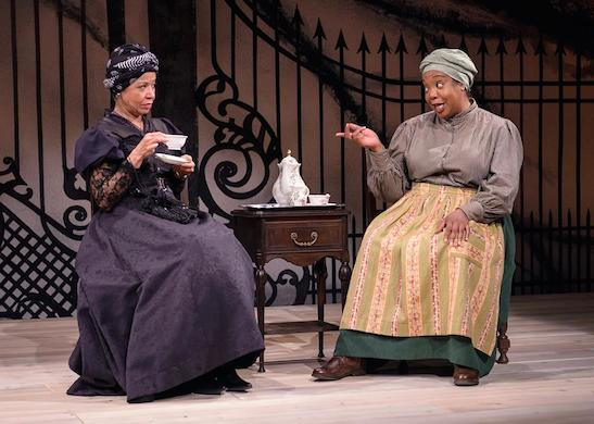 Linda Bright Clay and Jacqueline Williams in THE HOUSE THAT WILL NOT STAND. Photo by Michael Courier.