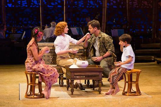 Ngana (Louisa Darr), Ensign Nellie Forbush (Erin Mackey), Emile de Becque (Edward Staudenmayer) and Jerome (Sander L. Huynh-Weiss). Photo by T. Charles Erickson.