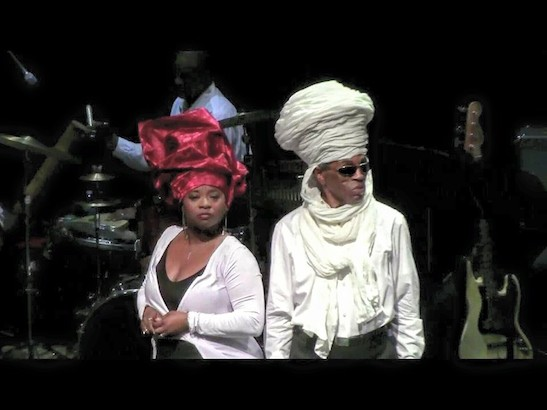 Donica Lynn as Mau Mau Bett and André De Shields as Baba Femi. Photo by Lia Chang