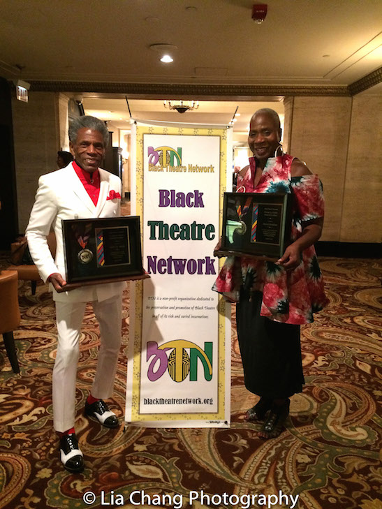 André De Shields and Marcia Pendleton receive 2016 BTN Winona Lee Fletcher Awards at the Black Theatre Network's 30th Anniversary Conference Awards Bruncheon at the Palmer House Hilton in Chicago on August 9, 2016. Photo by Lia Chang
