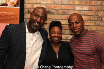 Tyrone L. Robinson, Donica Lynn and Chris Sams. Photo by Lia Chang