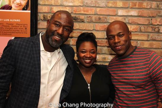 Tyrone L. Robinson, Donica Lynn and Chris Sams. Photo by Lia Chang