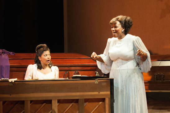 Rebecca Naomi Jones and Kecia Lewis in George Brant's Marie and Rosetta. (© Ahron R. Foster)
