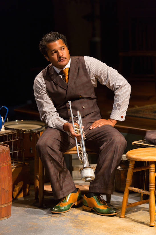 Brandon J. Dirden as Levee in August Wilson's Ma Rainey's Black Bottom at Two River Theater. Photo by T. Charles Erickson