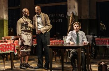 Sahr Ngaujah, Leon Addison Brown and Noah Robbins. Photo Credit: Monique Carboni