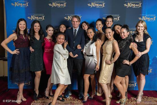Director Bartlett Sher and the women of THE KING AND I. Photo by KSP Images