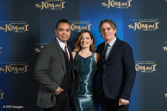 Jose Llana, Laura Michelle Kelly and director Bartlett Sher. Photo by KSP Images