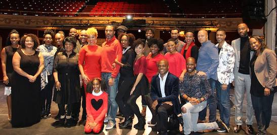 The cast and creative team of Classical Theatre of Harlem's THE FIRST NOEL at The Apollo. (Facebook)
