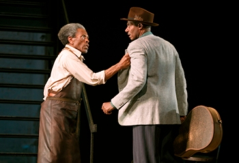 André De Shields and Billy Eugene Jones in August Wilson's Seven Guitars, directed by Timothy Douglas. Photo by Joan Marcus 2016.